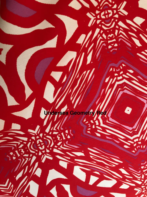 Fabric Remnant: Undersea Geometry Red