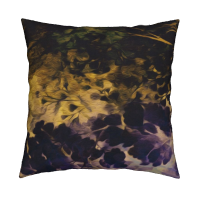 Chinoiserie Purple to Blue Gold Pillow
