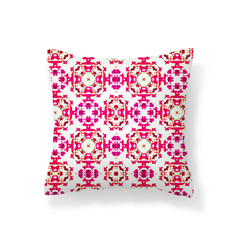 Botanical Spring Red Pillow