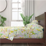 Palest Pink Flower Bed Sheets