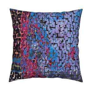 Tri-Colore Asian Fuchsia Dark Pillow