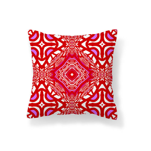 Undersea Geometry Red Pillow