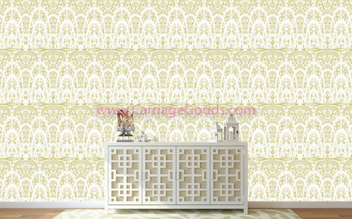 Carnival Arches, Pale Green Gold Wallpaper-Wholesale