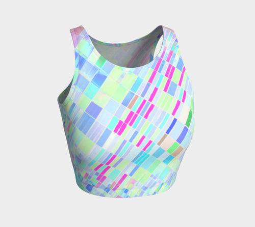 Mish Mash Tripping Bluer Sport Crop Top - Quick Ship