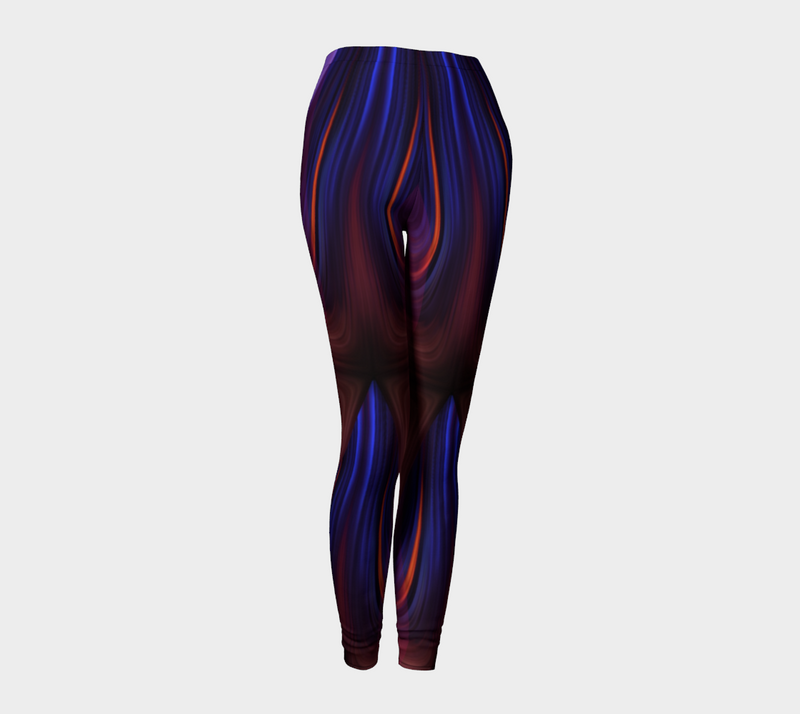 Women's blue red leggings