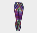 Women's pink green striped leggings