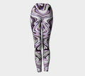 Women's purple striped leggings