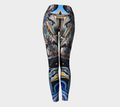 Women's blue red funky leggings