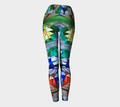 Women's colorful blue red yellow leggings