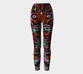 Women's black colorful funky leggings