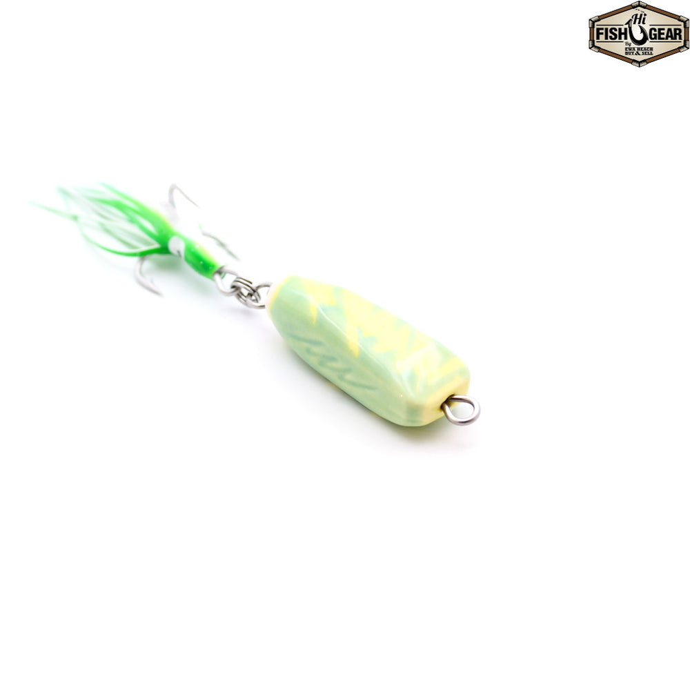 Mark White Lures Yellow/Turquoise Ulua & Papio Bar