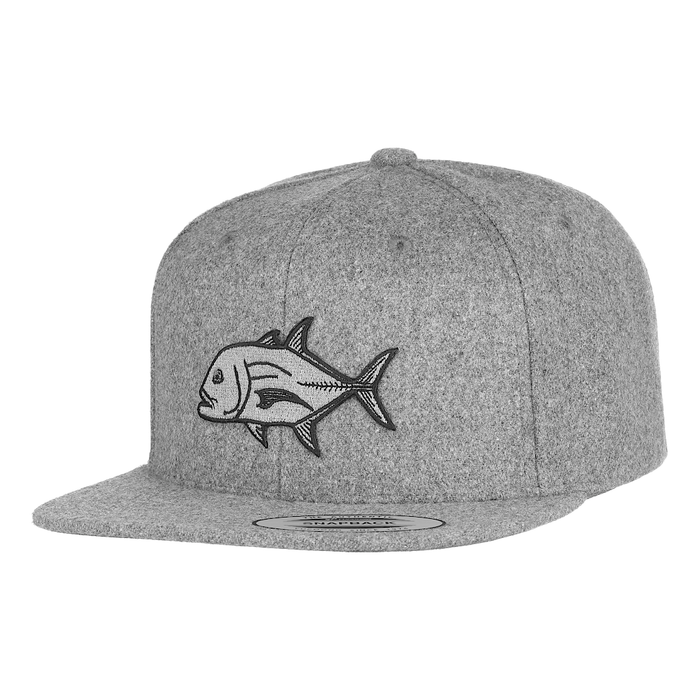 HFG - Ulua Grey Wool Snapback Flat Bill Hat