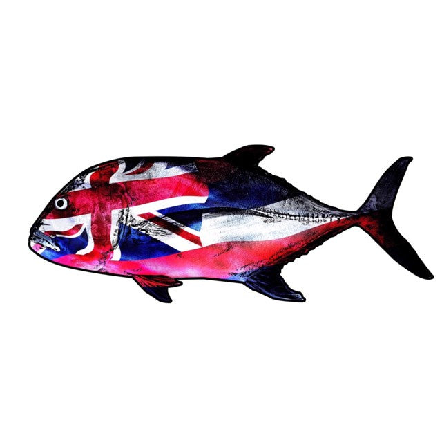 "HFG 5"" Ulua Hawaiian Flag Sticker"