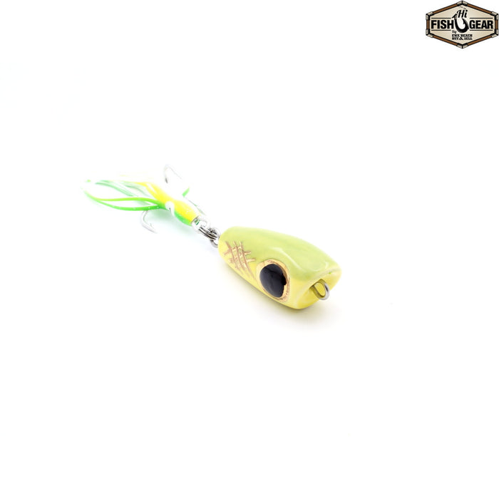Mark White Lures Yellow/Green with Black Eye Surface Plug