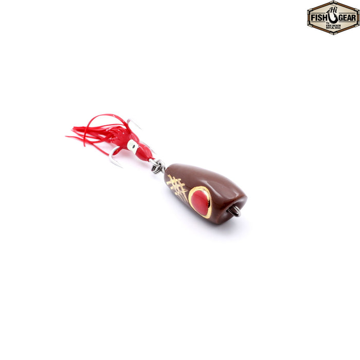 Mark White Lures Brown with Red Eye Surface Plug