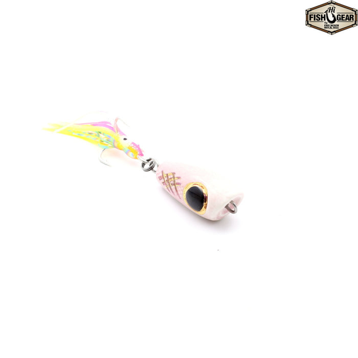 Mark White Lures Pink Surface Plug