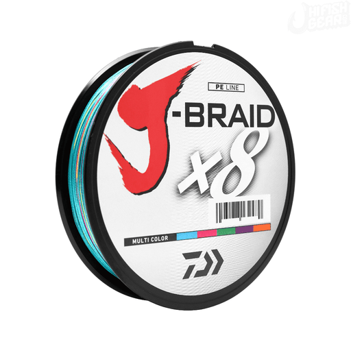 Daiwa J-Braid Braided Line Multi-Color