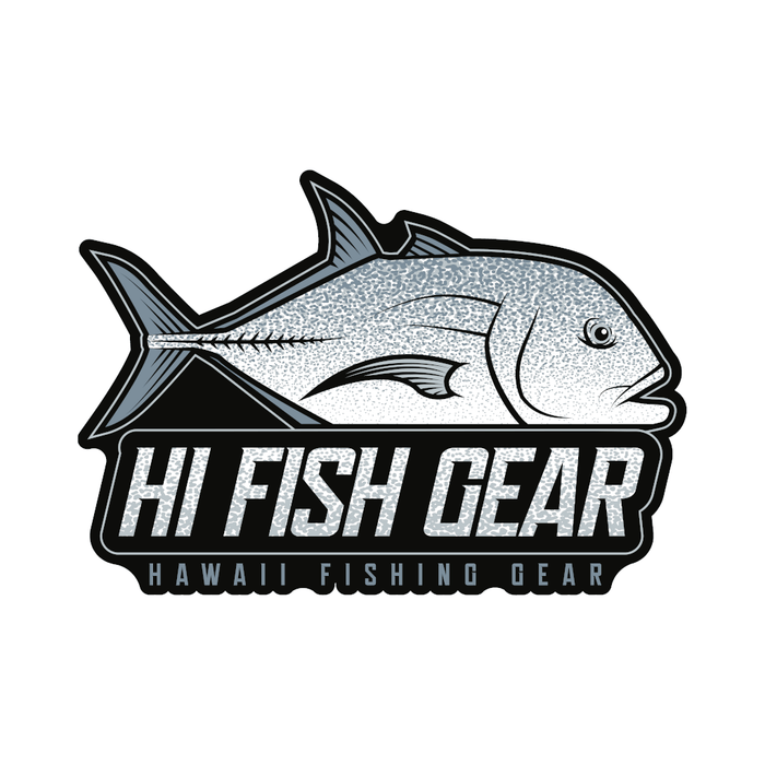 "HFG 4"" Hawaii Fishing Gear Ulua Logo Vinyl Sticker"