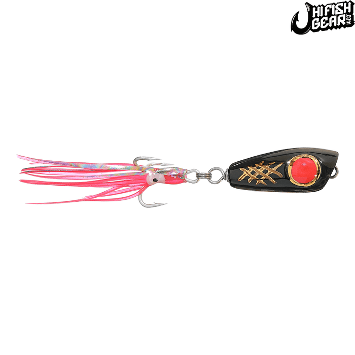Mark White Lures Black with Red Eye Surface Plug