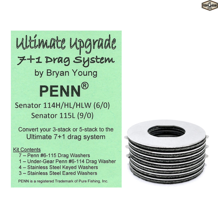 Ultimate Upgrade: 7+1 For Penn Senator 6/0 114H/HL/HLW & Senator 9/0 115L