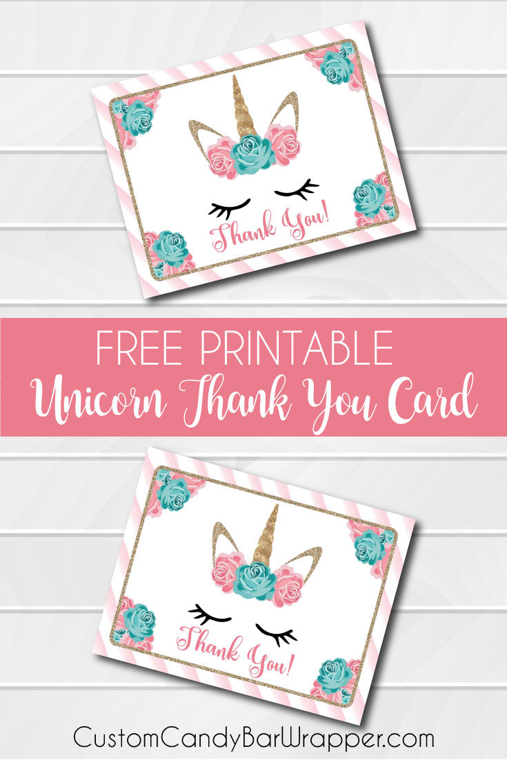 Free Printable Unicorn Thank You Cards Announce It
