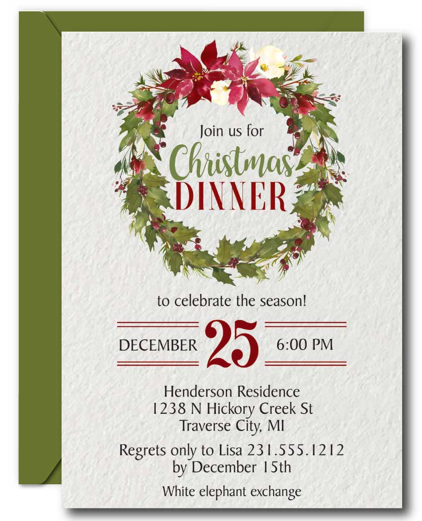 christmas party invitations announce it