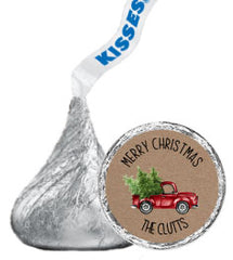 Holiday Hershey Kisses Stickers