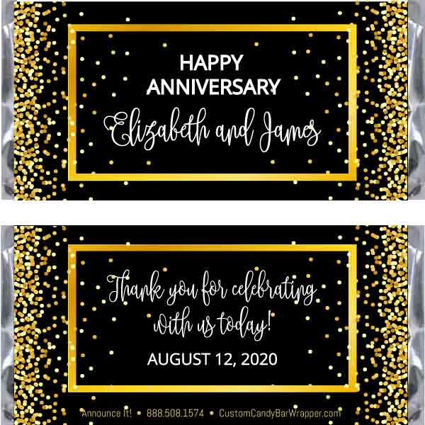 Anniversary Candy Wrappers