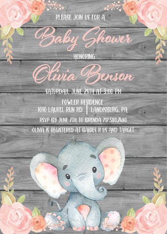 graphic regarding Free Printable Elephant Baby Shower named Freebie Friday: No cost Printable Elephant Thank On your own Playing cards