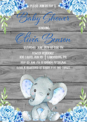 graphic about Free Printable Elephant Baby Shower called Freebie Friday: Free of charge Printable Elephant Thank Oneself Playing cards