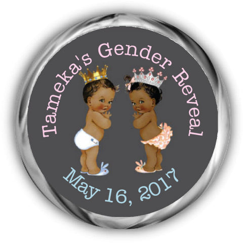 Prince or Princess Gender Reveal Stickers