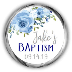 Personalized Baptism Kisses Stickers