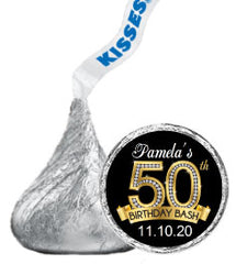 Birthday Hershey Kisses Stickers