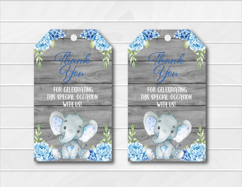 photograph about Free Printable Baby Shower Thank You Tags named Freebie Friday: Free of charge Printable Elephant Thank On your own Playing cards