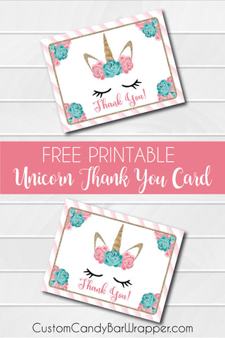 photograph relating to Free Printable Unicorn Pictures identified as No cost Printable Unicorn Thank Yourself Playing cards Announce It!