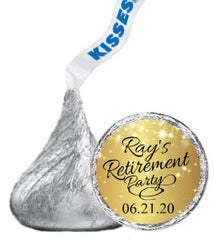 Retirement Hershey Kisses Stickers