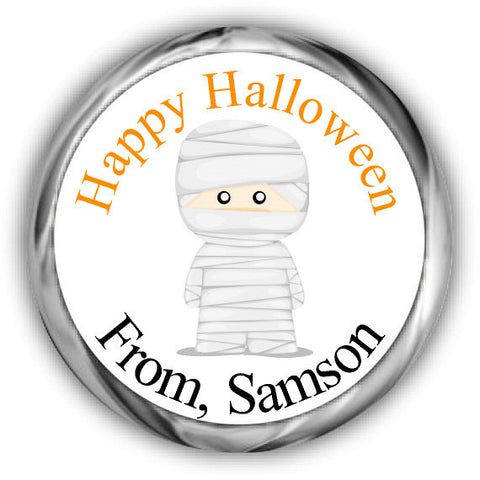 Mummy Halloween Kisses Stickers