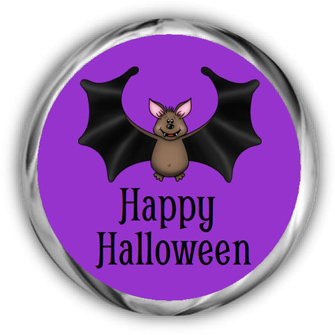 Bat Halloween Kisses Stickers