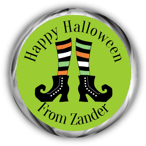 Witches Feet Halloween Kisses Stickers