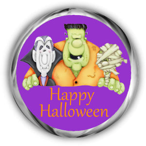 Ghouls Halloween Kisses Stickers