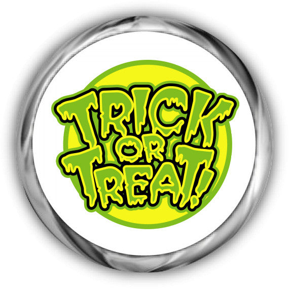 Trick or Treat Halloween Kisses Stickers