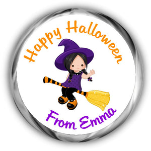 Witch Halloween Kisses Stickers