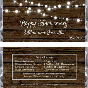 Rustic Anniversary Candy Bar Wrappers