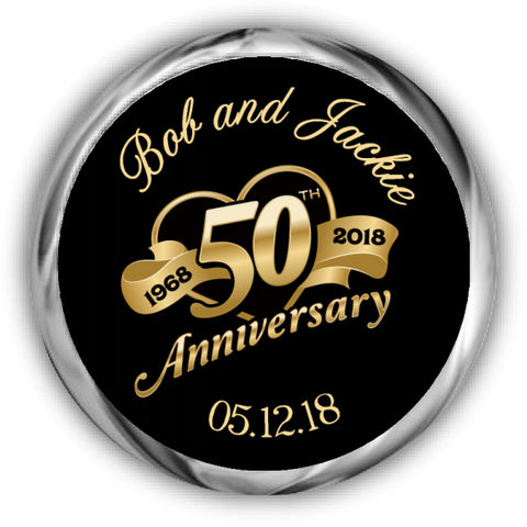 50th Anniversary Kisses Stickers