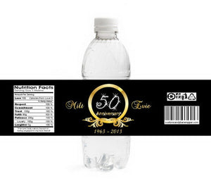 Diamond 50th Anniversary Bottle Labels