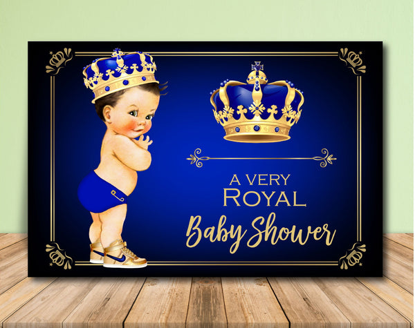 Royal Prince Baby Shower Backdrop - Lighter