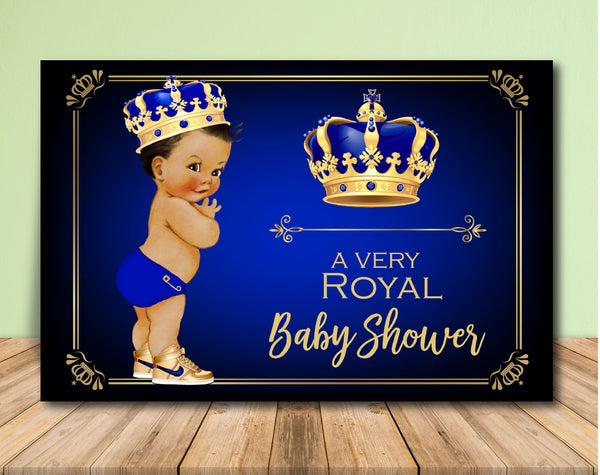 Royal Prince Baby Shower Backdrop - Medium