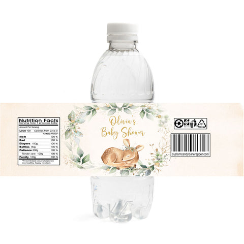 Oh Deer Baby Shower Water Bottle Labels