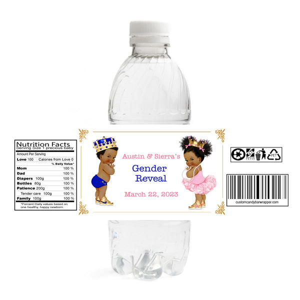 Prince or Princess Gender Reveal Bottle Label