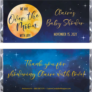 Over The Moon Baby Shower Candy Bar Wrappers